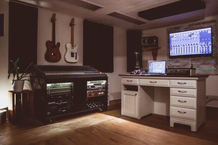 Music Production Room - a shot of our mixing room
